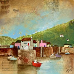 Ale House Harbour by Keith Athay - Varnished Original Painting on Box Canvas sized 16x16 inches. Available from Whitewall Galleries